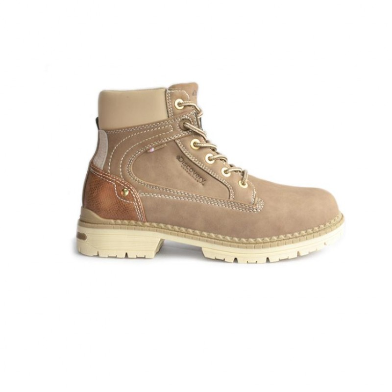 Bota Outdoor para mujer marca Discovery color gris